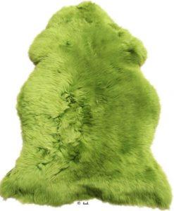 dikke schapenvacht groen.