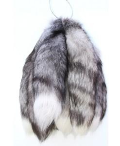 Staarten vossenstaart sleutelhangers