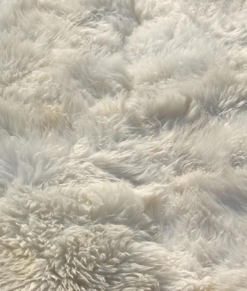 schapenvacht vloerkleed wit eco tapijt engels