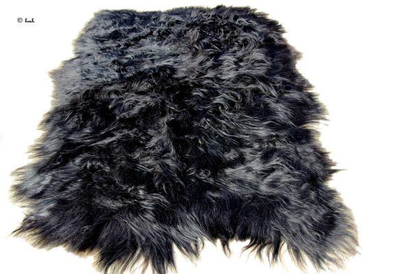 fa5f7db4ede9db vloerkleed eco schapenvacht langharig zwart 180  200cm -110  130cm ...
