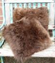 schapenvacht kussen berenbruin 40cm
