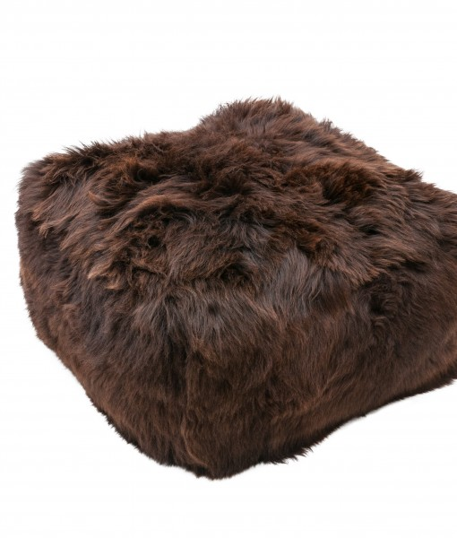 English brown schapenvacht poef
