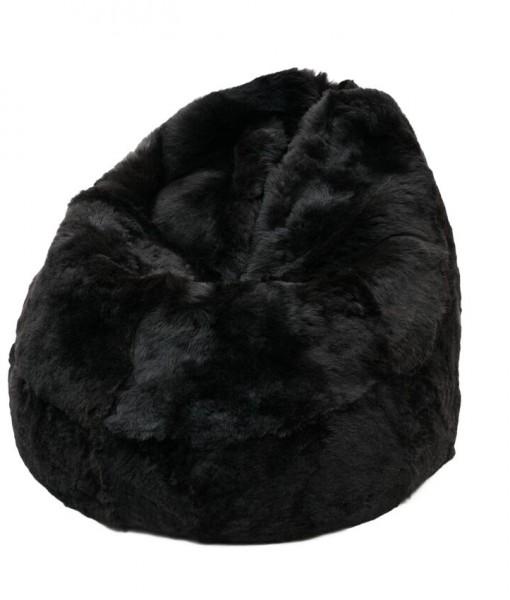 blacky-brown shorn beanbag