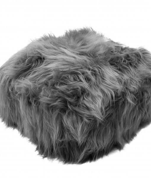 grey brisa  schapenvacht pouf