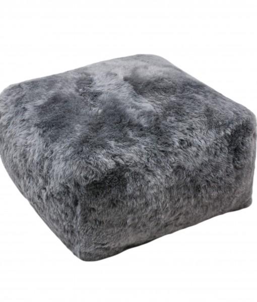 grey brisa shorn schapenvacht poef