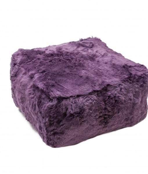 lavender shorn schapenvacht poeff