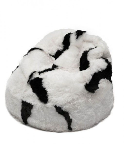 spotted shorn beanbag