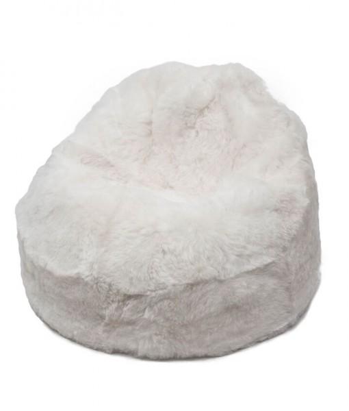 white shorn beanbag