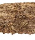 eco schapenvacht tapijt langharig bruin bestaande uit 8 schapenvachten