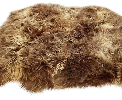 schapenvacht tapijt langharig bruin 6 schapenvachten eco