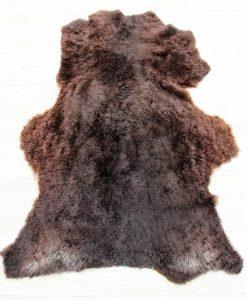ijslandse schapenvacht bruin grijs nr 1824