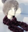 sjaal-konijnvacht-plukjes-paars