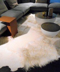 multi-layer- white-rug -shaggy -design, vloerkleed -schapenvacht-kort-langhaar-mix-