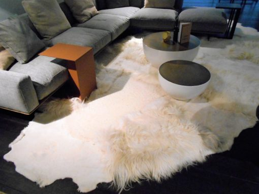 multi-layer- white-rug -shaggy -design, vloerkleed -schapenvacht-kort-langhaar-mix-