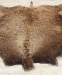Buffalo-bizon-vel-vacht-huid-bruin