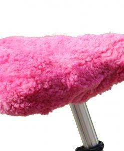 fietszadel-dekje-schapenvacht-rose