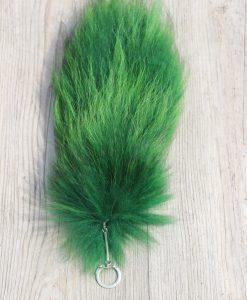 vossenstaart -sleutelhanger-groen-nr 1