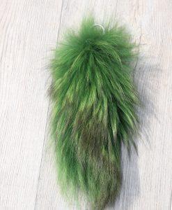 vossenstaart sleutelhanger -kleur groen