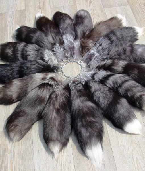 vossenstaart-xl-zwart-grijs-