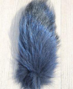 vossenstaart-sleutelhanger-blauw