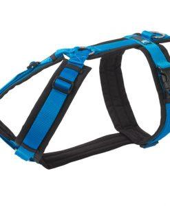 hondentuig -blauw -zwart