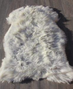 Schapenvacht-grijs-100cm x 80cm-lichtgrijs-schapenvel