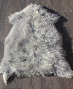 Schapenvacht-grijs-100cm x 75cm-lichtgrijs-schapenvel