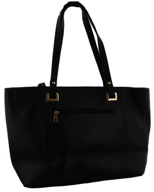 Black Leather Bag with Mixed color Cow Hide - Every Bag is Unique 46x30x15cm