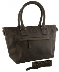 leather Bag Edmonton Grey 43x26x12cm