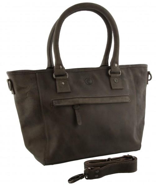 leather Bag Edmonton Grey 43x26x12cm