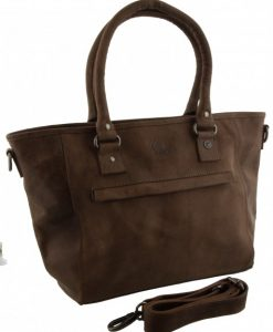 leather Bag Edmonton taupe 43x26x12cm