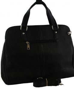 S-C6.1 Black Leather Bag with Mixed color Cow Hide - Every Bag is Unique 42x30x12cm