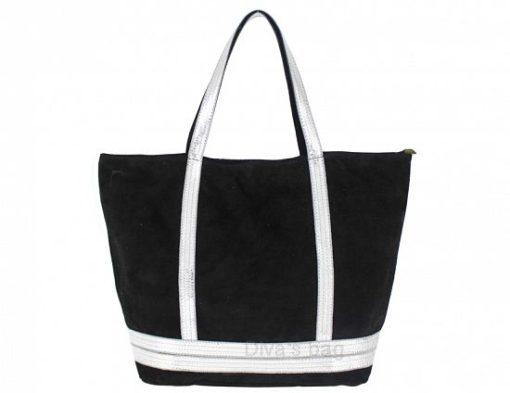 Genuine Leather Maxi Bag Swami Black