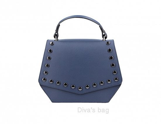 b6d6080682a Leather handbag Ausilia Blue – Het Millushandelshuis