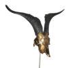 Design-geitenbok-lange-hoorns-op voet