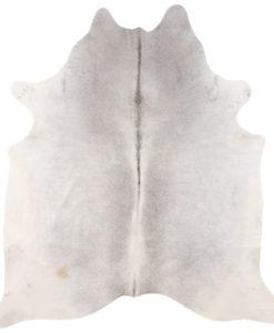 Decoratieve- grijze- koeienhuid-soepel- en -dik- leder- luxe -moderne -uitstraling