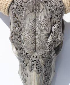 longhorn-zebu-gegraveerd-buddha-gepolijste hoorns