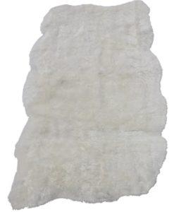 schapenvacht woonkleed-wit-lamsvacht-zachte wol-vloerkleed
