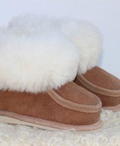 kinder-pantoffel-sloffen-schapenvacht-bruin-maat-26 (2)