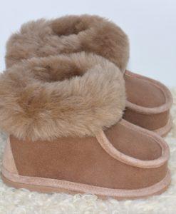 kinder-pantoffel-sloffen-schapenvacht-bruin-maat-27