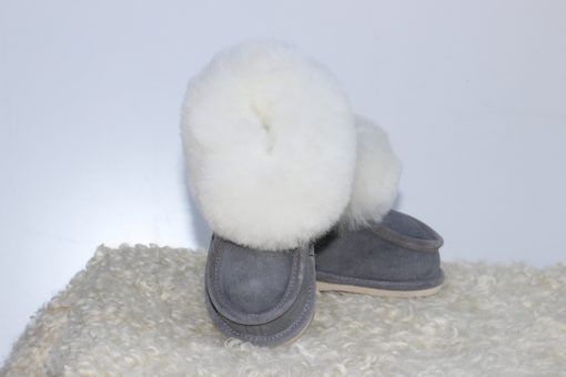 kinder-pantoffel-sloffen-schapenvacht-grijs-maat-24