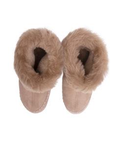 Pantoffels-donja-hd-lederzool-schapenvacht-bruin