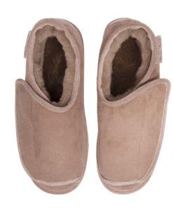 Pantoffels-donja-hd-stevige-zool-schapenvacht-klittenband