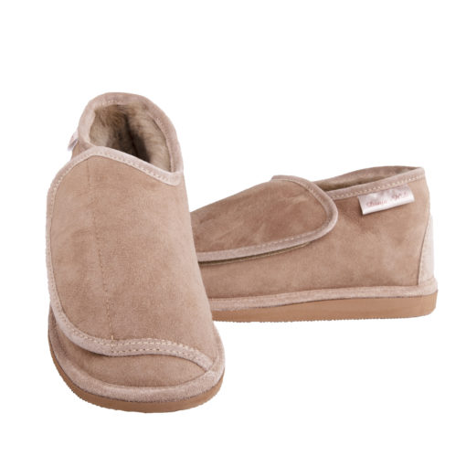 Pantoffels-donja-hd-stevige-zool-schapenvacht-klittenband-
