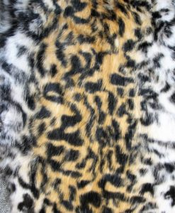 konijnenvacht vel tijgerprint