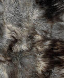 schapenvacht kleed grijs-detail