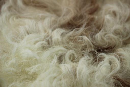 groot schapenvacht bruin-bruin/wit-detail-
