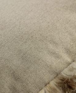 groot schapenvacht bruin-bruin/wit-achterzijde