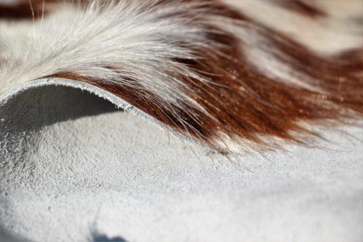 detail foto leder rood bonte koeienhuid