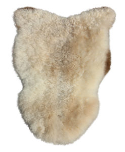 IJslandse schapenvacht-creme bruin van kleur